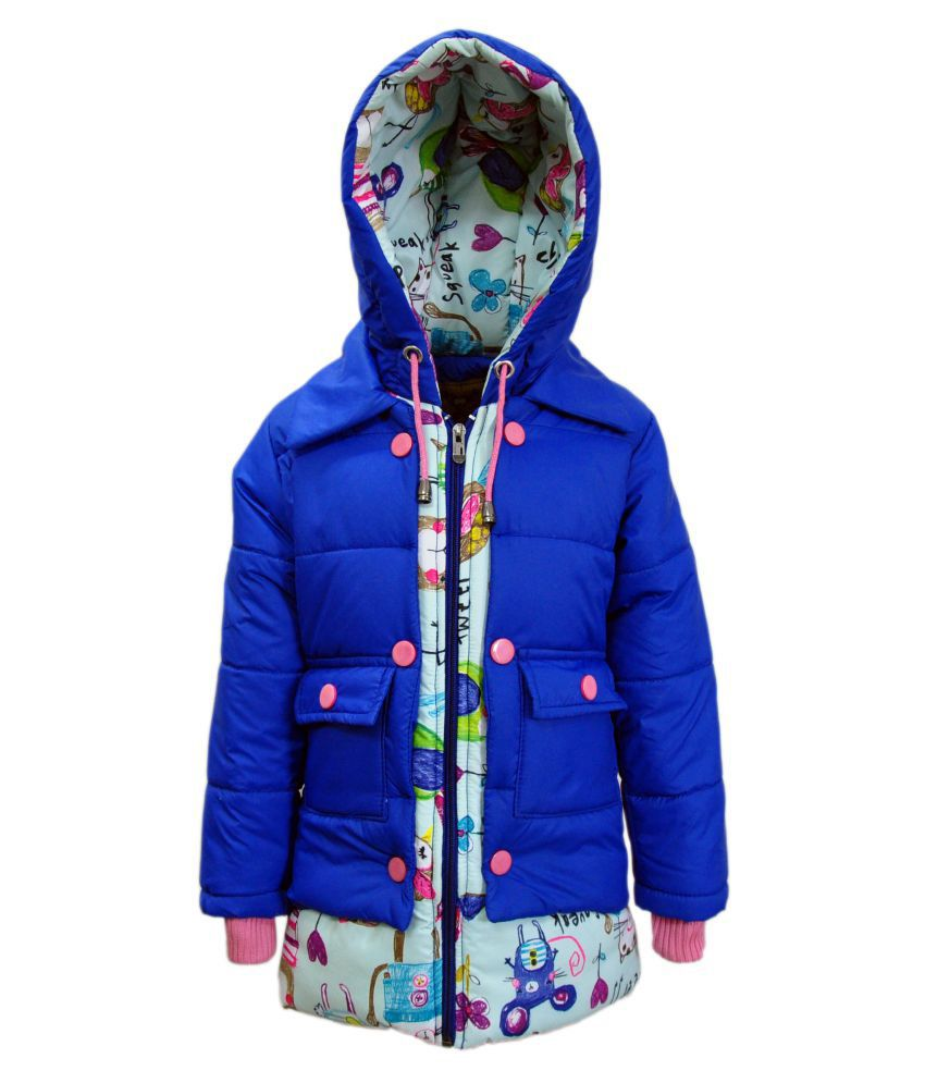 Come In Kids Blue Polyester Jacket