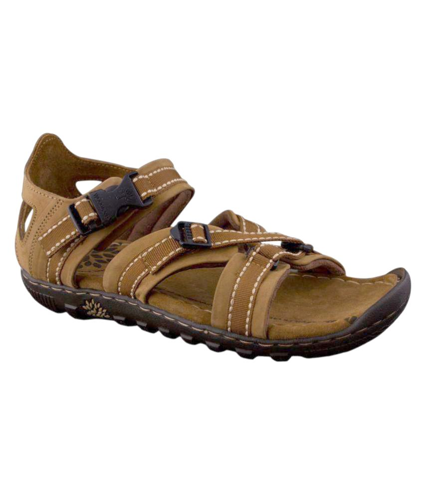 bd8e90326a6e8 Woodland Leather Copper Floater Sandals - Buy Woodland Leather Copper  Floater Sandals Online at Best Prices in India on Snapdeal