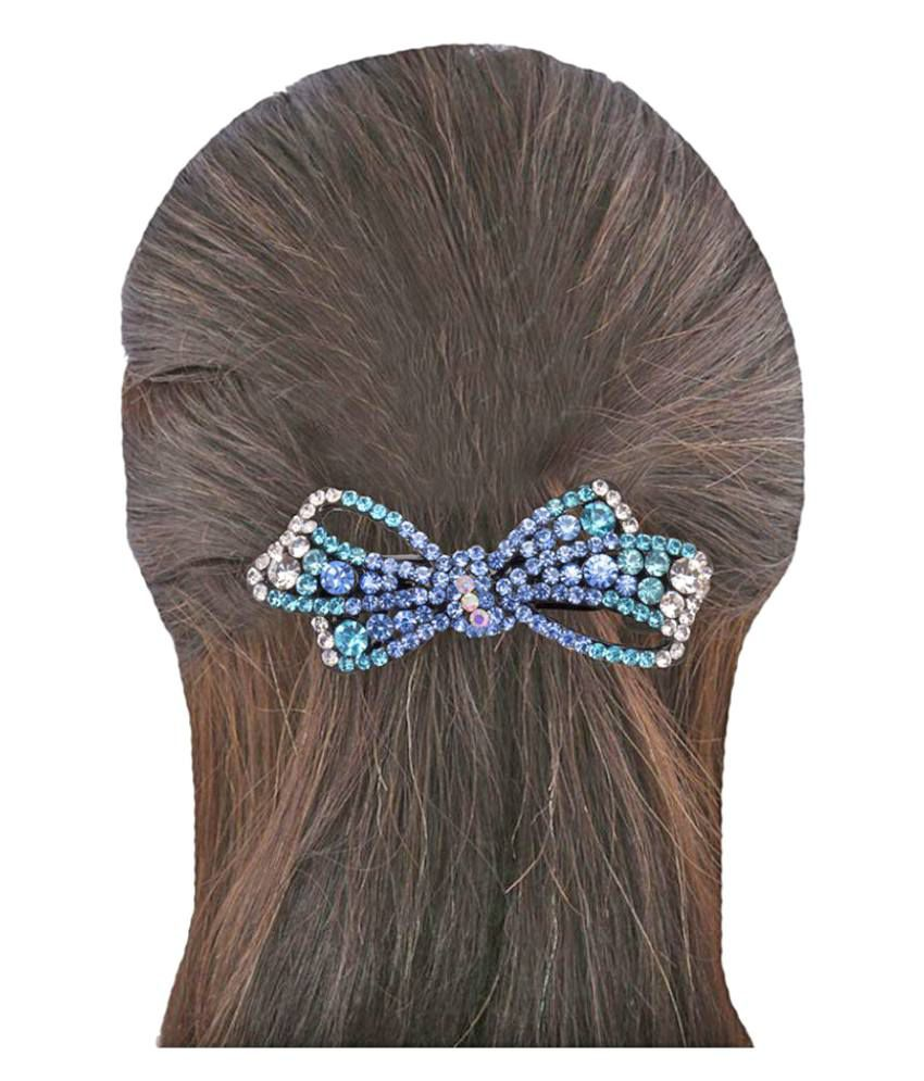 Hair Accessories India Online -  glitters online blue party hair clip hair accessories