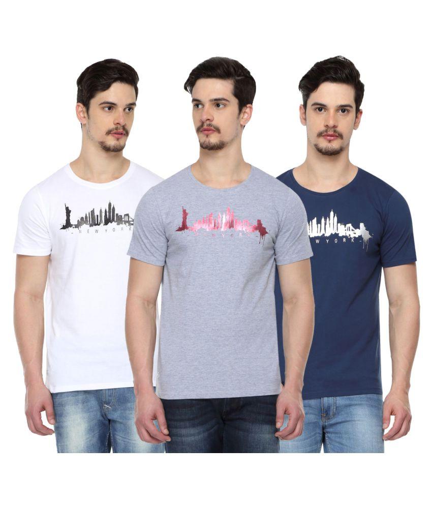 Odaka Multi Round T-Shirt Pack of 3