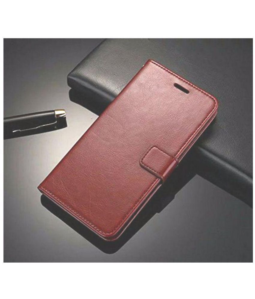 promo code 645f9 3df90 Gionee S6s Flip Cover by NKARTA - Brown