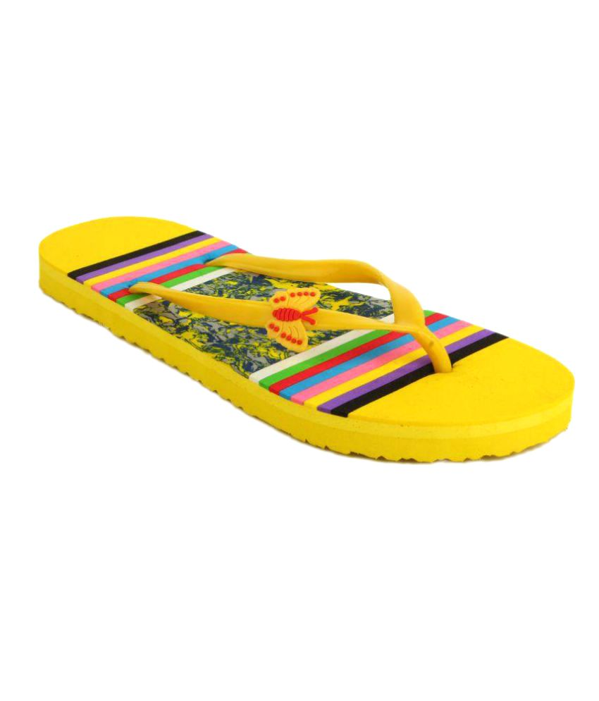 Fashion Victory Yellow Slippers