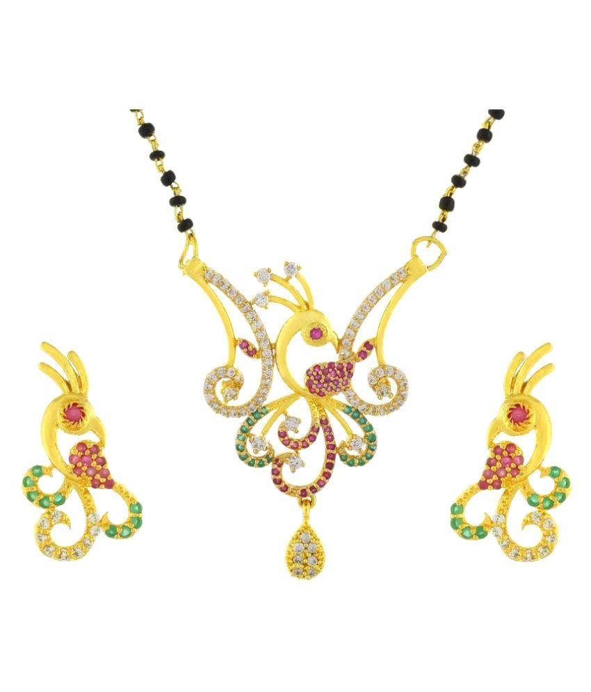 Miaa Fashion Jewellery Multicolour Mangalsutra Set