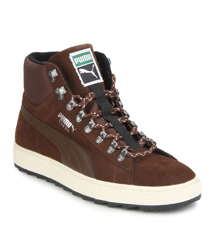 Puma Roma Basic Brown Casual Shoes - Buy Puma Roma Basic Brown Casual Shoes  Online at Best Prices in India on Snapdeal cfb7e045f