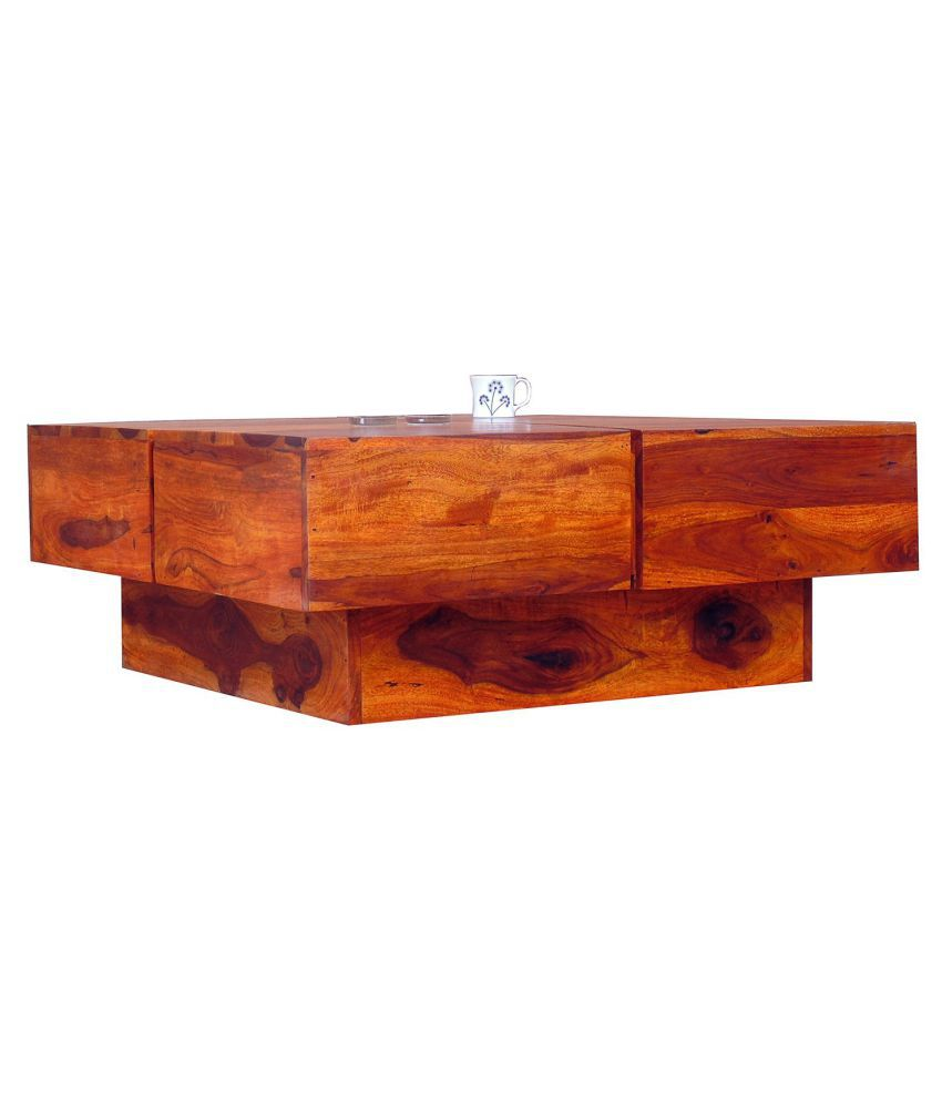 Ethnic India Art Solid Wood Coffee Table