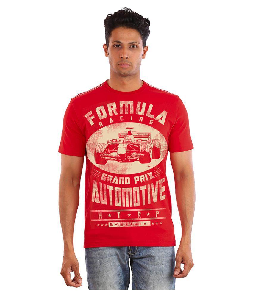 Huetrap Red Round T-Shirt