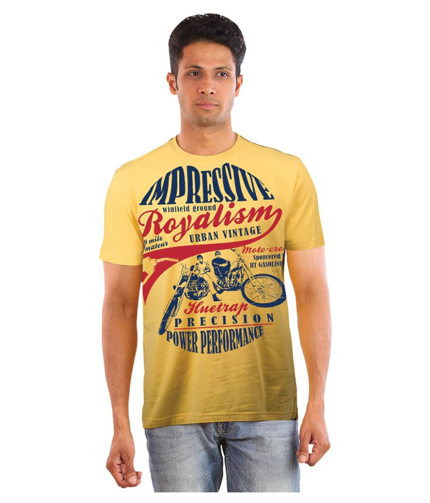 Huetrap Yellow Round T-Shirt