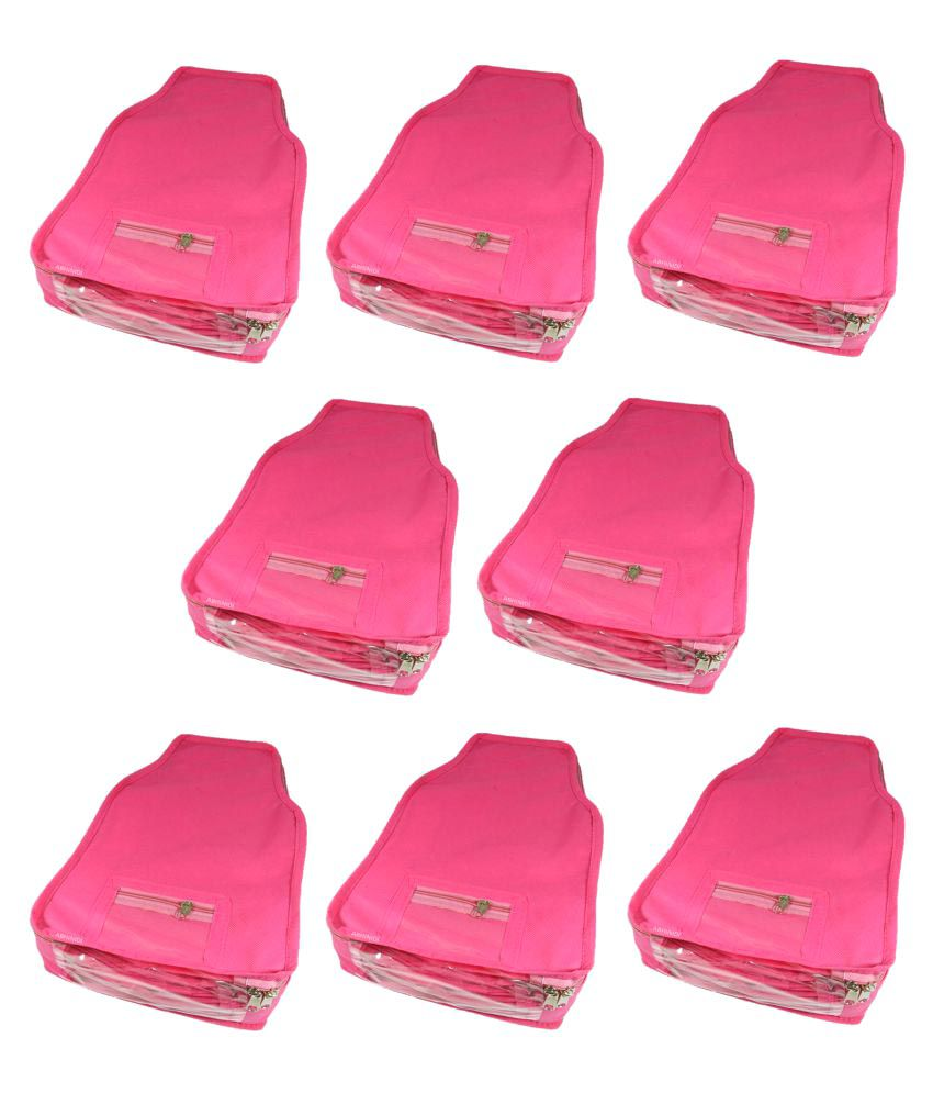 Abhinidi Pink Apparel Covers - 8 Pcs