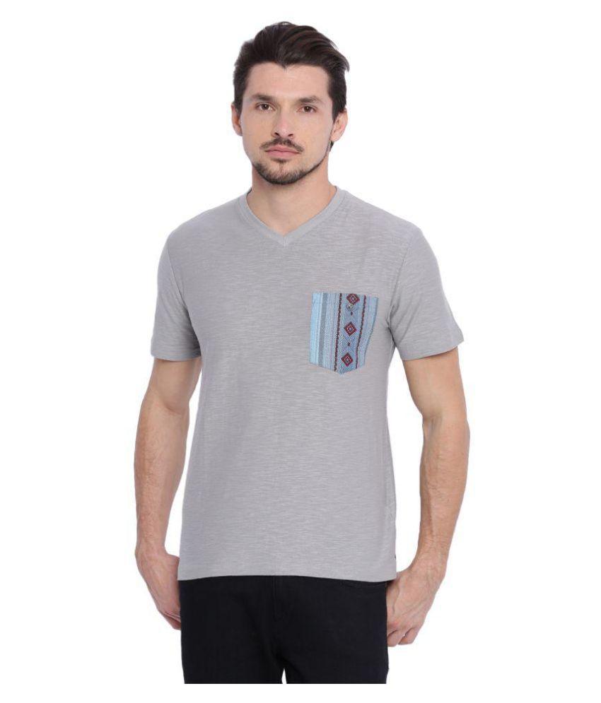 Arise By Beroe Grey V-Neck T-Shirt