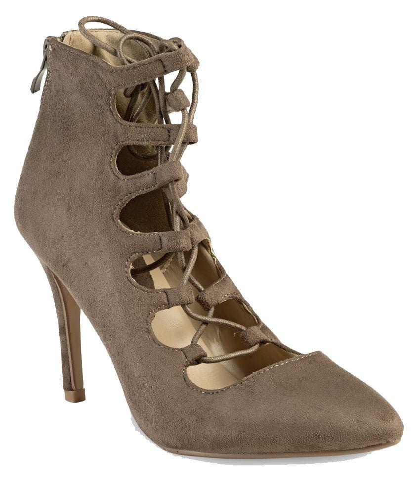 Flat N Heels Khaki Stiletto Heels