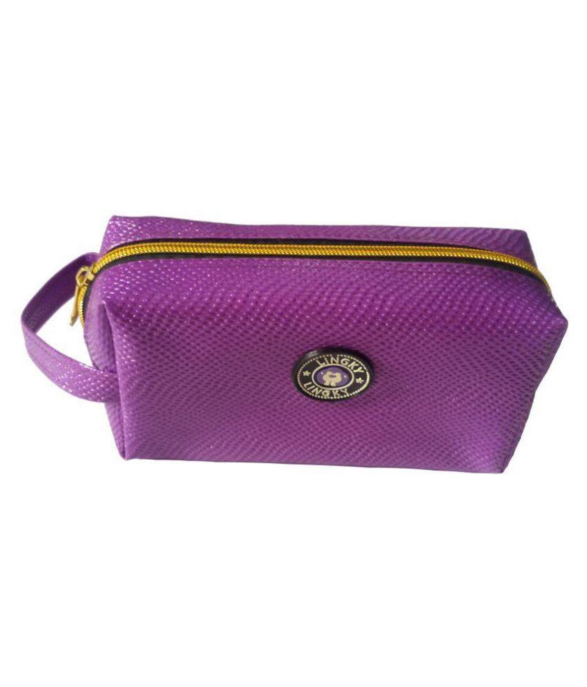 Viva Fashions Purple Vanity Kit and pouches - 1 Pc