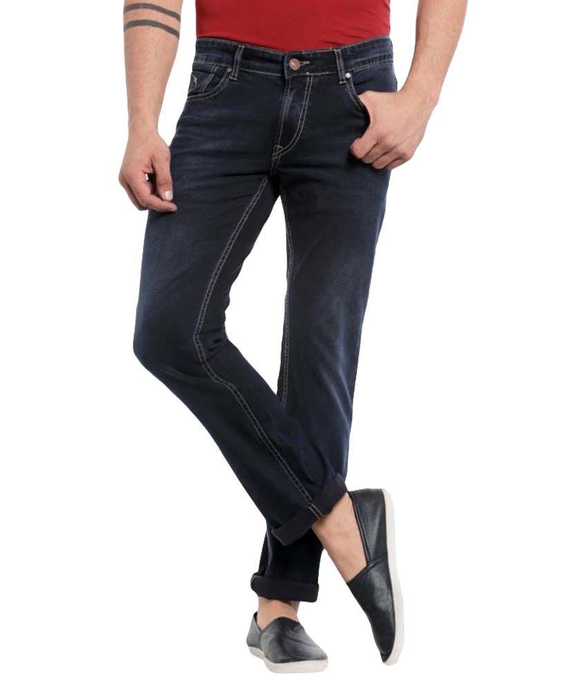 Mayback Navy Blue Regular Fit Jeans