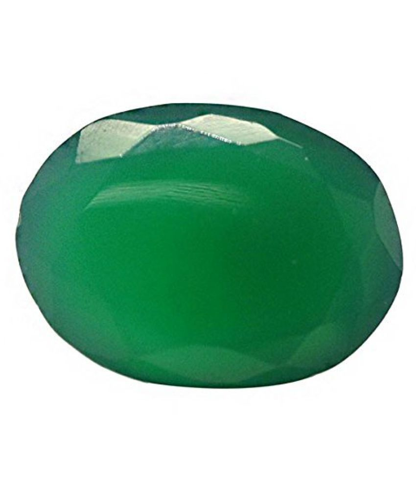 Green Onyx Certified Natural Gemstone 6.52 Carat / 7.24 Ratti
