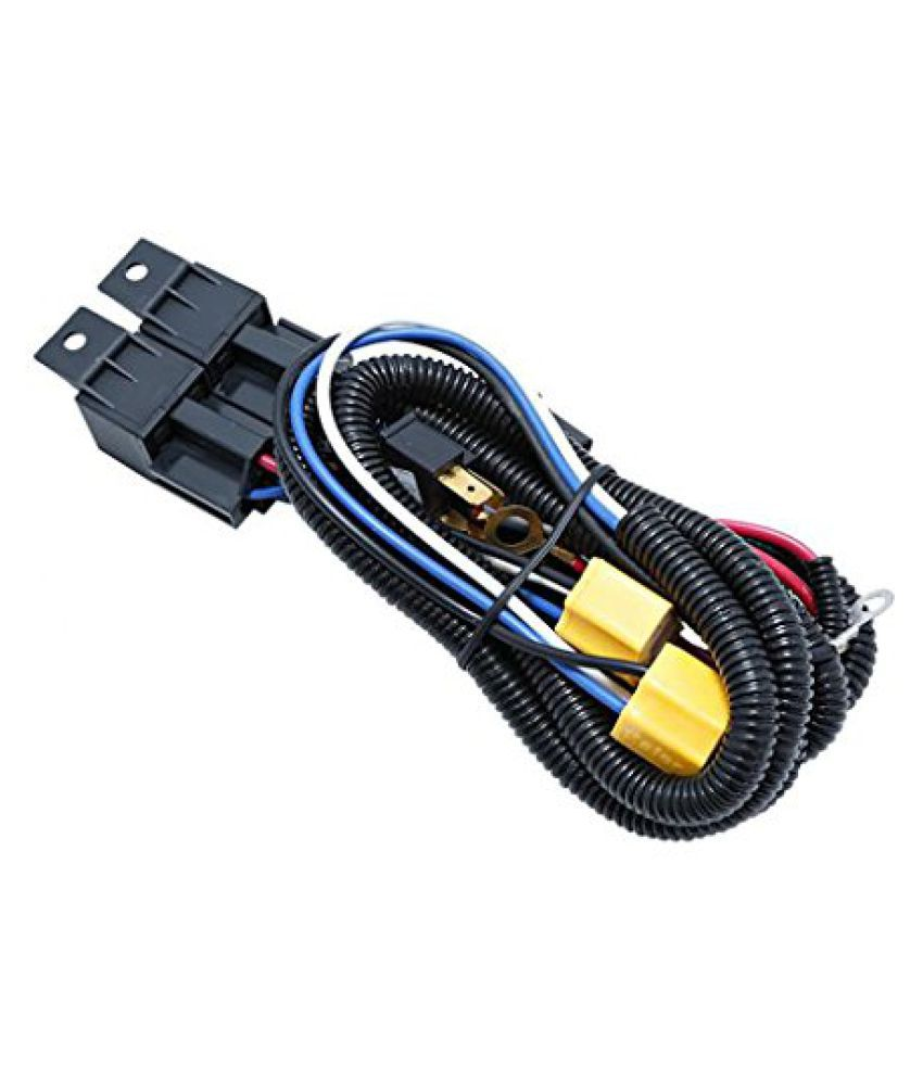 Speedwav Car H4 Headlight Brightener Ceremic Relay Wiring Harness Kit Mitsubishi Pajero Sport