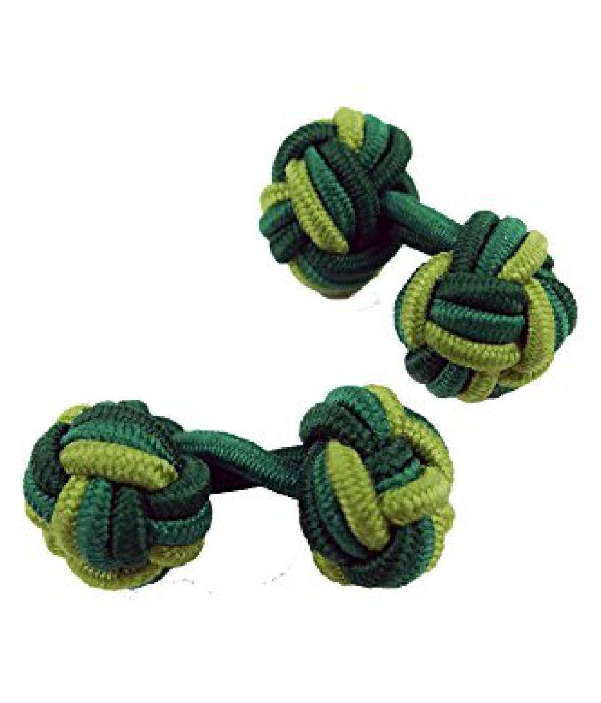 Tossido Cufflink for Men (Green ) (KCL05)