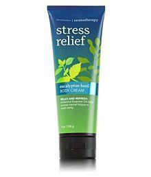 Bath & Body Works Stress Relief Eucalyptus Basil Day Cream 226 Gm