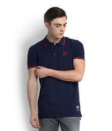 Used, Puma Blue High Neck T-Shirt for sale  Delivered anywhere in India