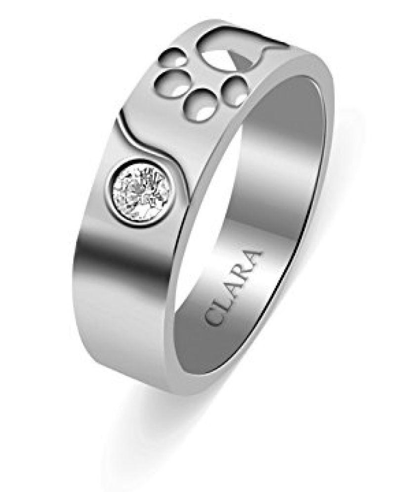 Clara Swarovski The Foot Sterling Silver Ring For Men