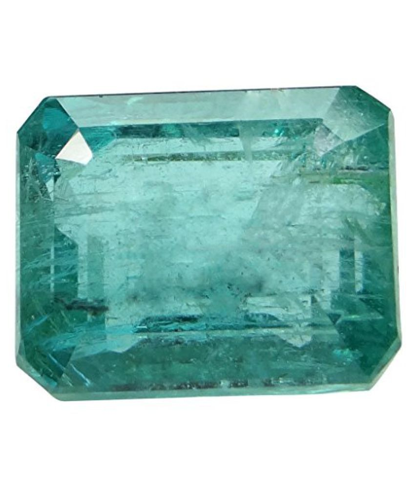 EMERALD PANNA 9.25 ct. / 10.28 Ratti Natural & IIGS Certified EMERALD (PANNA) GEMSTONE BY ARIHANT GEMS & JEWELS