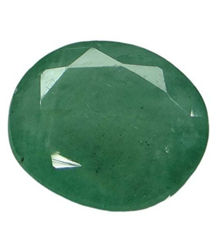 EMERALD PANNA LOOSE 100% NATURAL & CERTIFIED 3.00 ct. EMERALD BIRTHSTONE BY ARIHANT GEMS & JEWELS