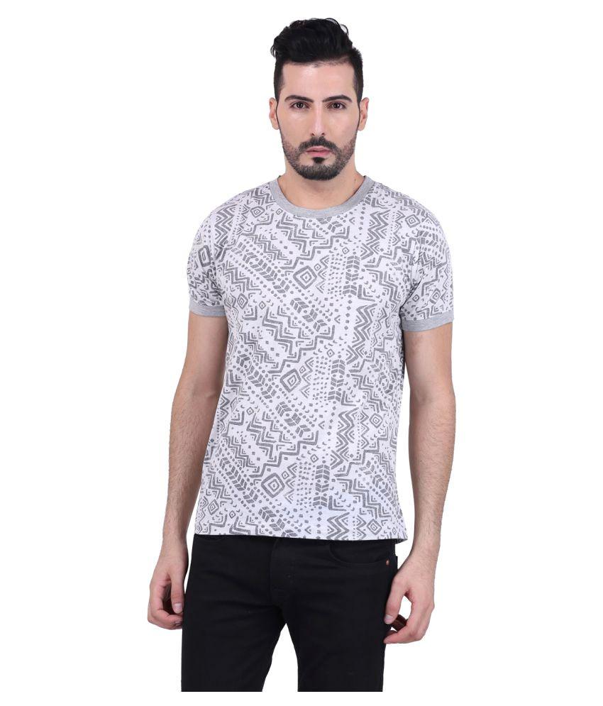 Pluss Grey Round T-Shirt