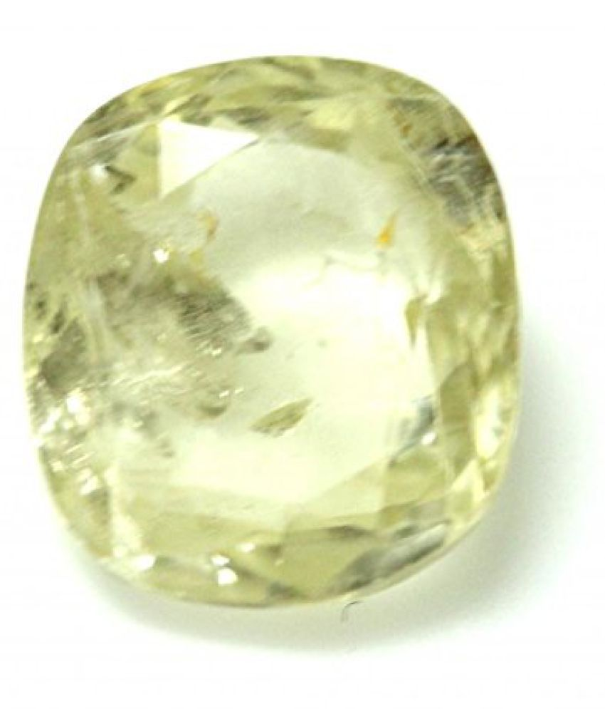 PUKHRAJ LOOSE 100% NATURAL & CERTIFIED 4.35 ct. YELLOW SAPPHIRE BIRTHSTONE BY ARIHANT GEMS AND JEWELS