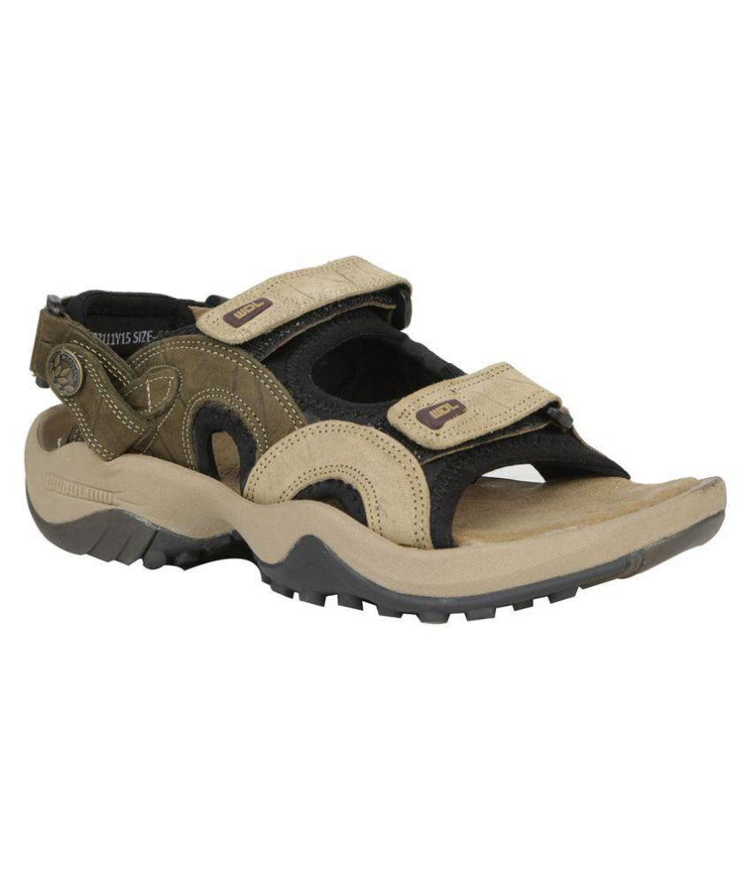 Woodland GD 1033111Y15 Khaki Sandals Price In India- Buy Woodland GD 1033111Y15 Khaki Sandals ...
