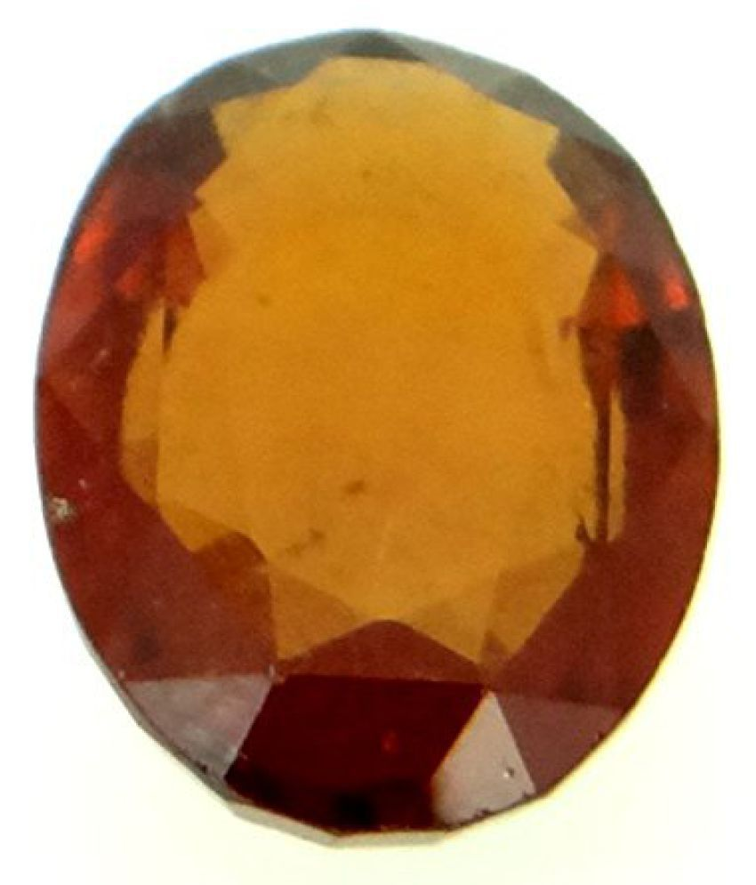 HESSONITE GARNET LOOSE 100% NATURAL & CERTIFIED 6.19 ct. HESSONITE GARNET BIRTHSTONE By ARIHANT GEMS AND JEWELS