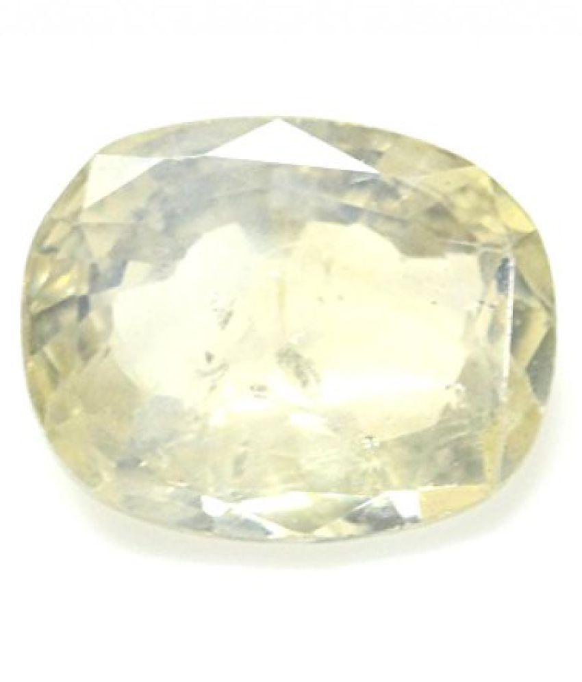 PUKHRAJ 4.54 ct. / 5.04 Ratti YELLOW SAPPHIRE (PUKHRAJ) Certified GEMSTONE BY ARIHANT GEMS AND JEWELS