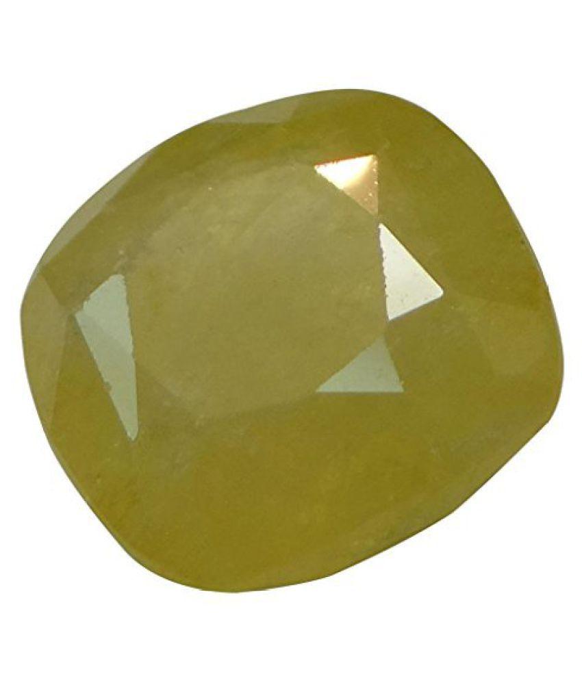 PUKHRAJ 5.41 ct. / 6.01 Ratti Natural & Certified Yellow Sapphire (Pukhraj) GEMSTONE BY ARIHANT GEMS AND JEWELS