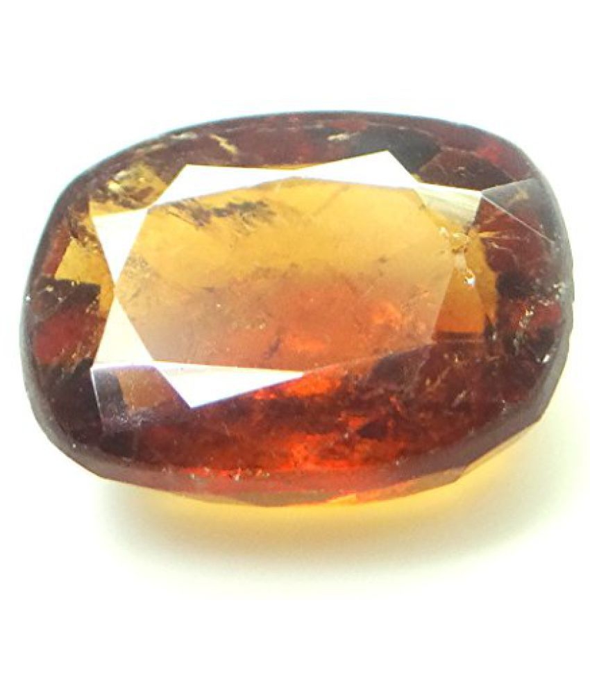 HESSONITE GARNET 5.81 ct. / 6.46 Ratti NATURAL & IIGS CERTIFIED HESSONITE GARNET (GOMED) ASTROLOGICAL BIRTHSTONE By ARIHANT GEMS AND JEWELS