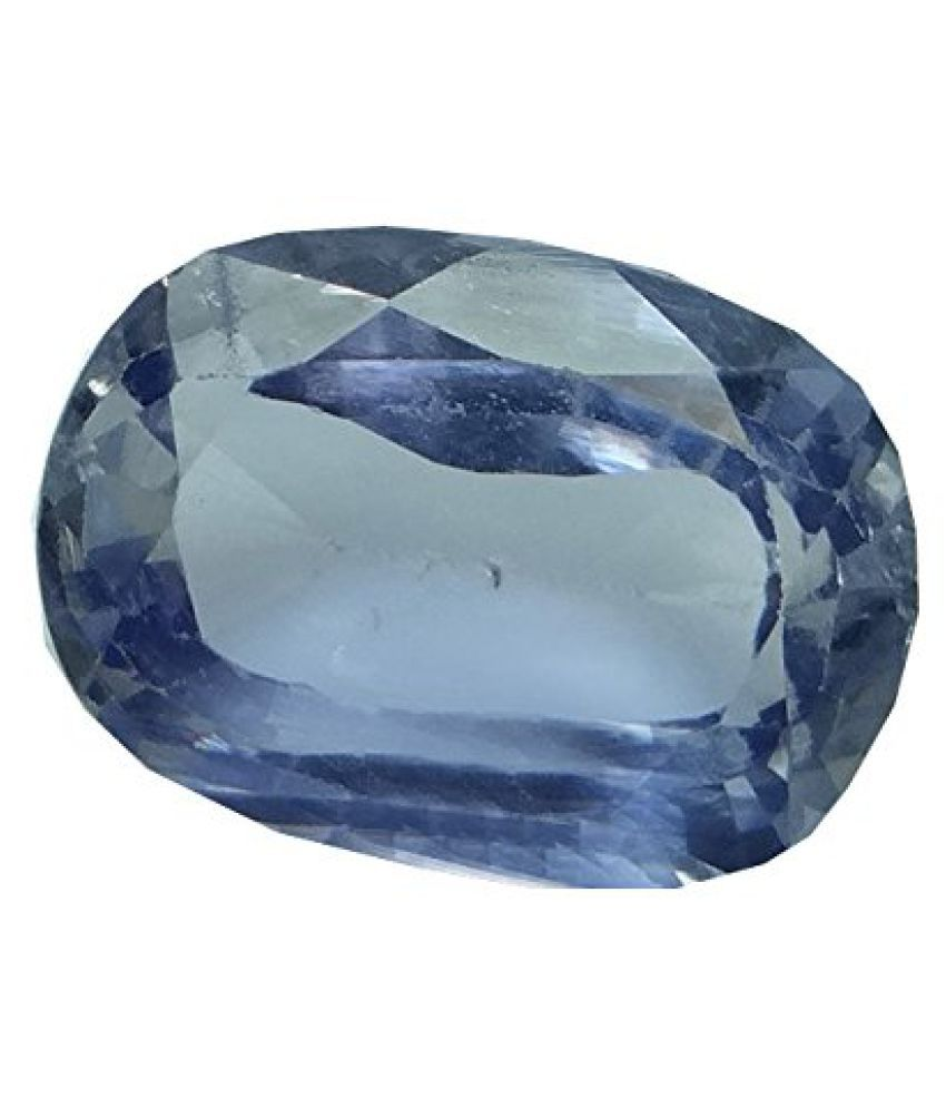 NEELAM 7.12 ct. / 7.91 Ratti PURE & IIGS CERTIFIED Synthetic Blue Sapphire ASTROLOGICAL GEMSTONE BY ARIHANT GEMS AND JEWELS