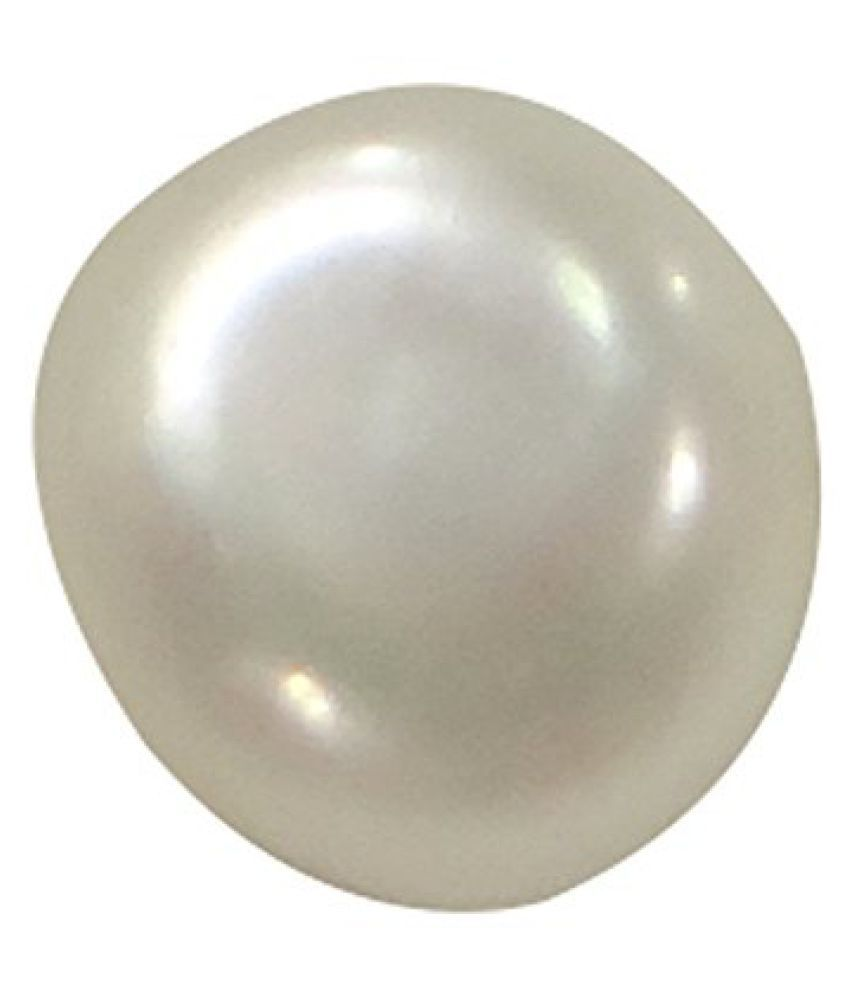 PEARL 6.42 ct. / 7.13 Ratti PURE & CERTIFIED FRESH WATER NATURAL PEARL (MOTI) ASTROLOGICAL BIRTHSTONE BY ARIHANT GEMS AND JEWELS