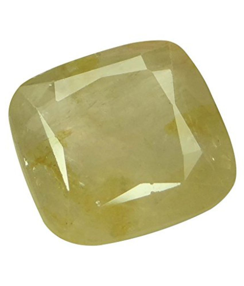 PUKHRAJ 10.95 ct. / 12.17 Ratti NATURAL & IIGS CERTIFIED YELLOW SAPPHIRE (PUKHRAJ) ASTROLOGICAL BIRTHSTONE BY ARIHANT GEMS AND JEWELS