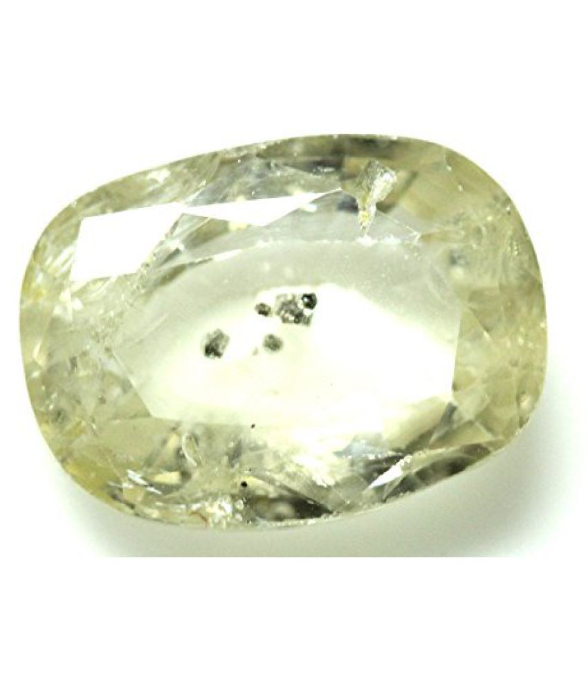PUKHRAJ LOOSE 100% NATURAL & CERTIFIED 5.18 ct. YELLOW SAPPHIRE BIRTHSTONE BY ARIHANT GEMS AND JEWELS