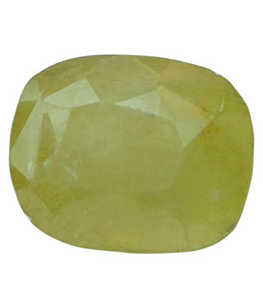 PUKHRAJ 5.88 ct. / 6.53 Ratti Natural & Certified Yellow Sapphire (Pukhraj) BIRTHSTONE BY ARIHANT GEMS AND JEWELS