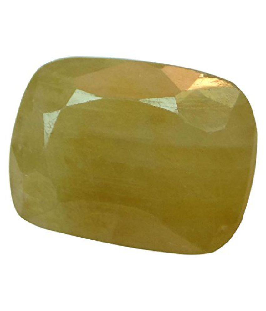 PUKHRAJ 9.94 ct. / 11.04 Ratti Natural & Certified Yellow Sapphire (Pukhraj) BIRTHSTONE BY ARIHANT GEMS AND JEWELS