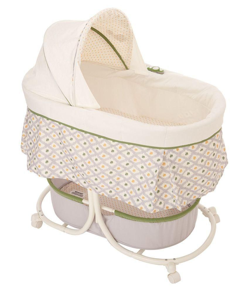 Summer Infant Multicolor Soothe And Sleep Bassinet with Motion, Sweet Lamb