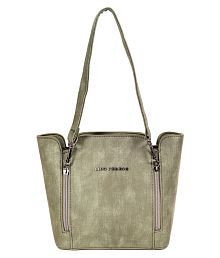 Lino Perros Green Faux Leather Shoulder Bag