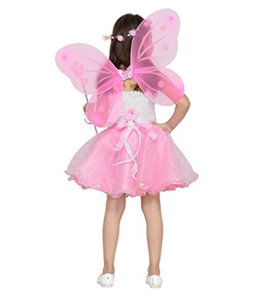ee8af549b8de9 Aarika Girl's Birthday/Christmas Special Premium Net Fabric Frock with Butterfly  Wings & Tiara - Buy Aarika Girl's Birthday/Christmas Special Premium Net ...