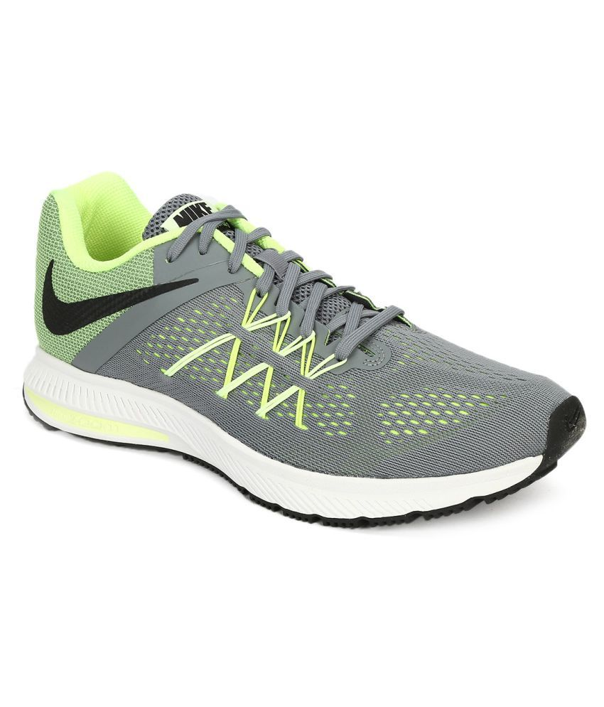 new product fc391 95a08 Nike Zoom Winflo 3 Gray Running Shoes