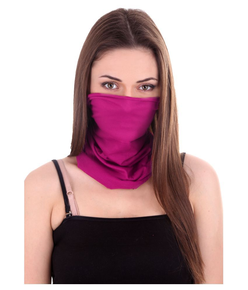 Nawab Pink Face Mask Head Wear Buff Bandana Buy Online At