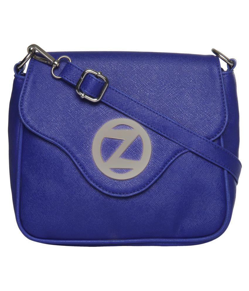 Osaiz Blue P.U. Sling Bag