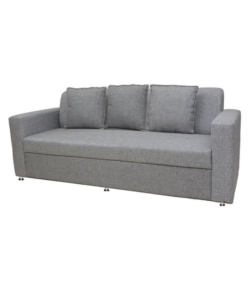 Sofa Sets Online: Bharat Lifestyle Lexus Fabric 3 Seater Sofa