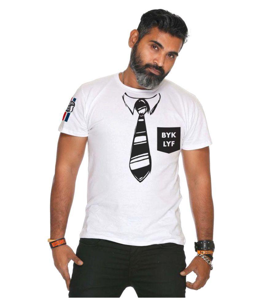 Grease Monkey White Round T-Shirt