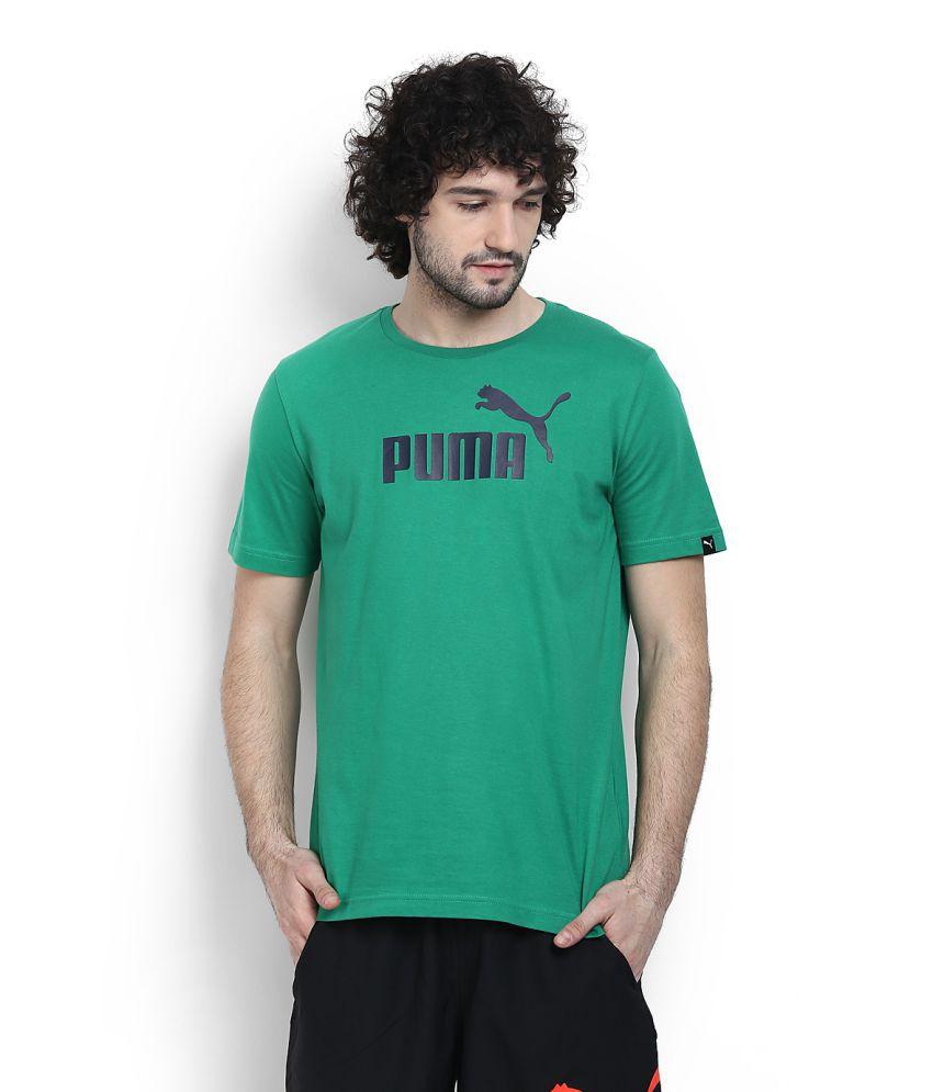 Puma Green Round T-Shirt
