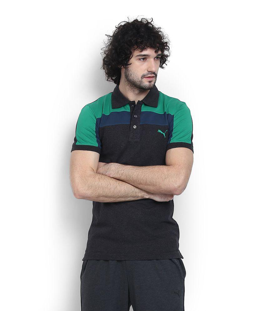 Puma Grey High Neck T-Shirt