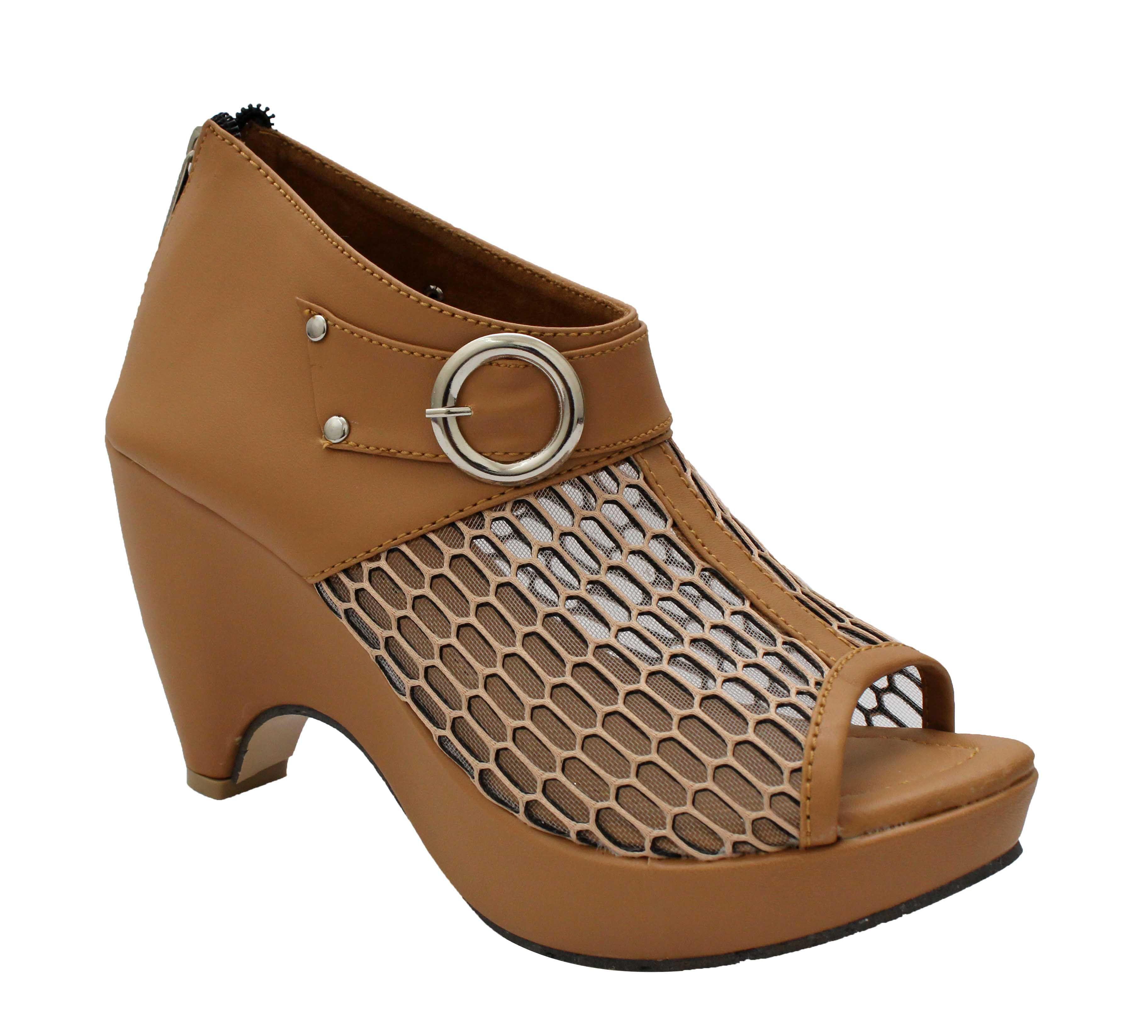 Rocksy Tan Block Heels