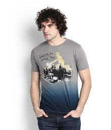 Wrangler Grey Round T-Shirt for sale  Delivered anywhere in India
