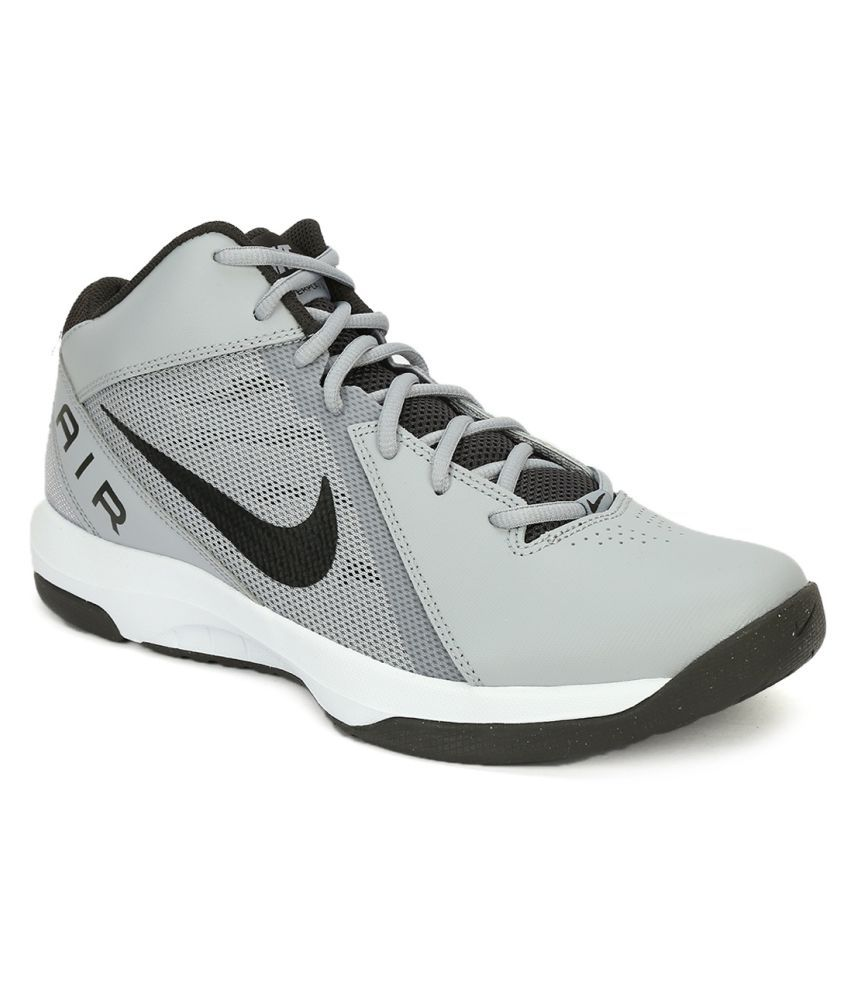 Nike THE AIR OVERPLAY IX Gray Basketball Shoes